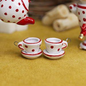 Чашка с блюдцем (мини) фото