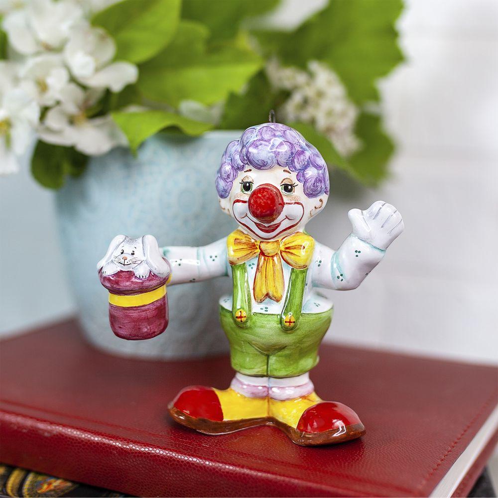 Клоун с цилиндром фото