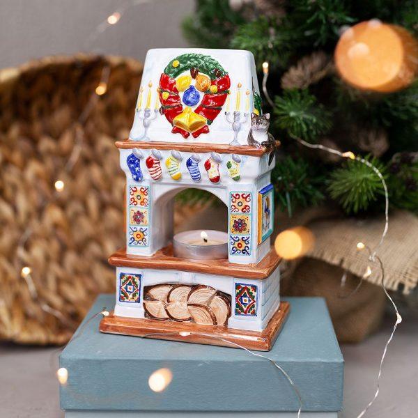 Подсвечник-Камин рождественский фото
