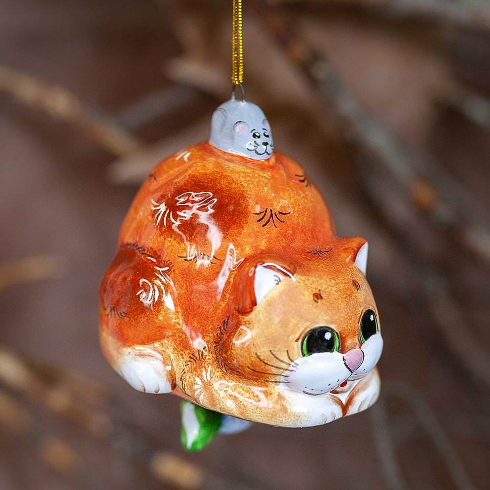 Колокол Кот (рыбка-бомбошка) подвесной фото
