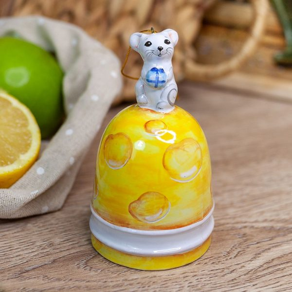 Колокол с мышкой (в виде сыра) фото