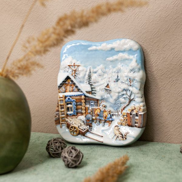 Деревенская зима (малая с дедом) фото