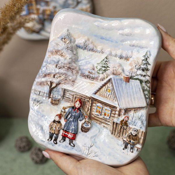 Деревенская зима (малая с бабой) фото