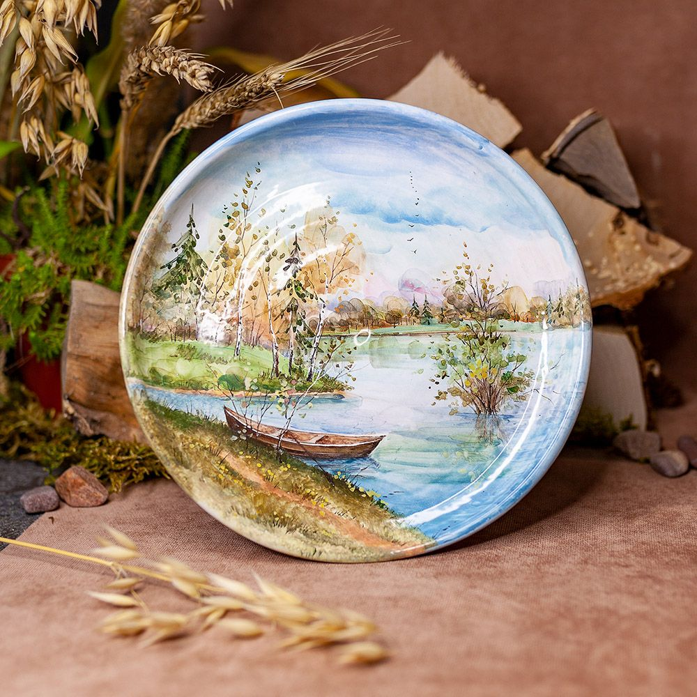 Тарелка 21 см Осенний  сюжет фото