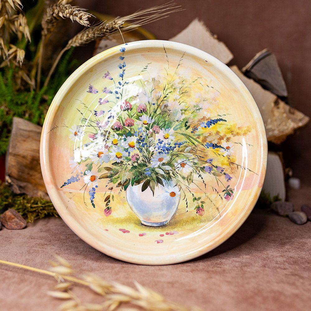 Тарелка 21 см Цветы фото