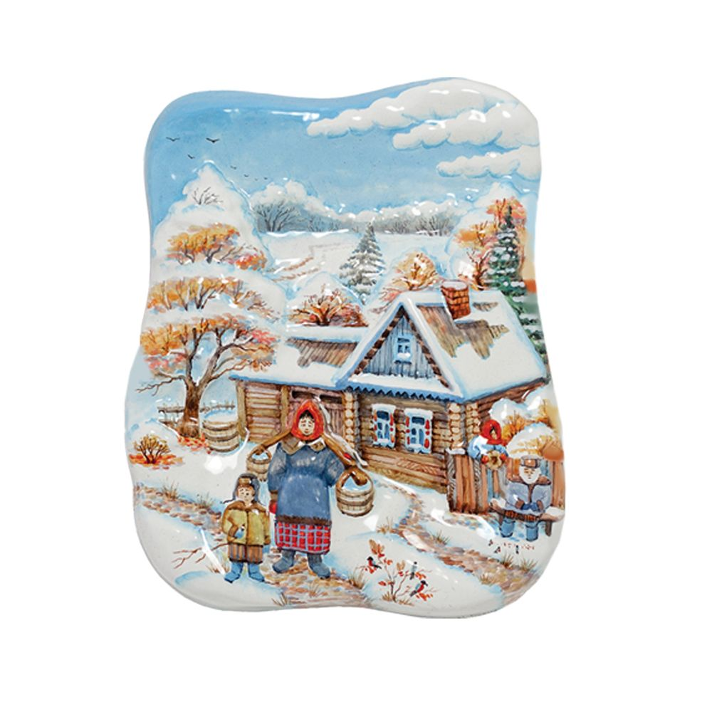 Деревенский первый снег (малая с бабой) фото