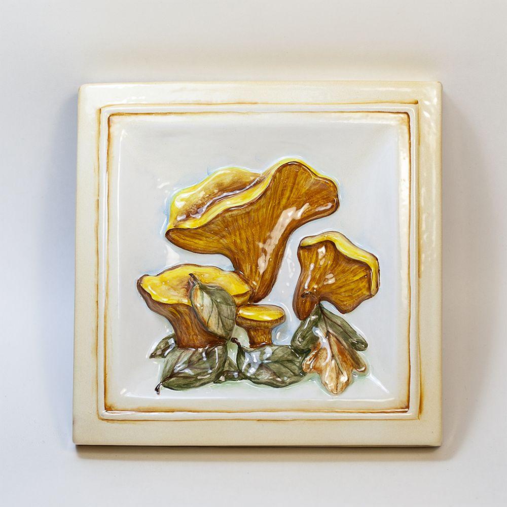 Лисички грибы-декор фото