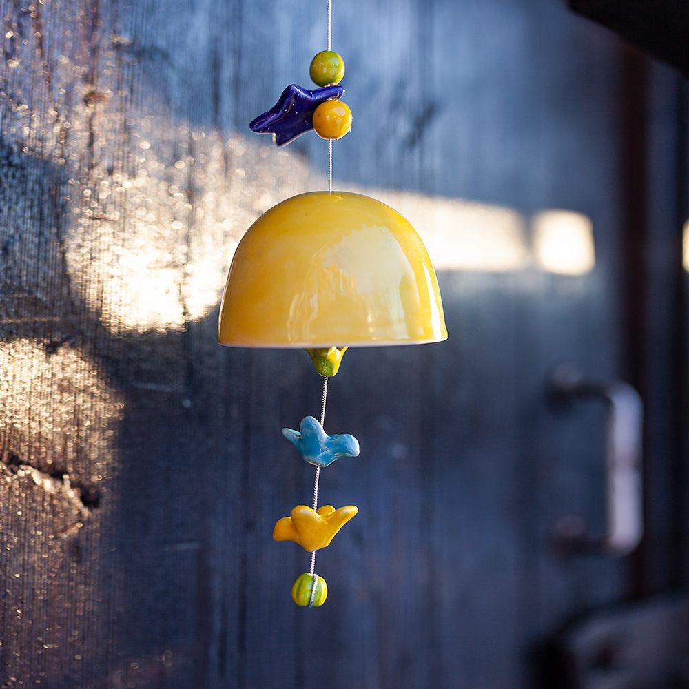 Колокольчик декоративный глазурь средний №1 фото