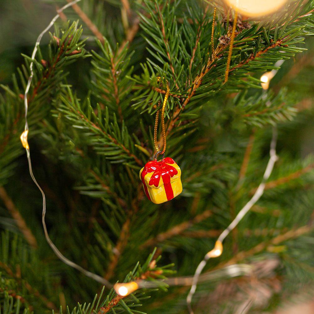 Подарок жёлтый (мини) фото