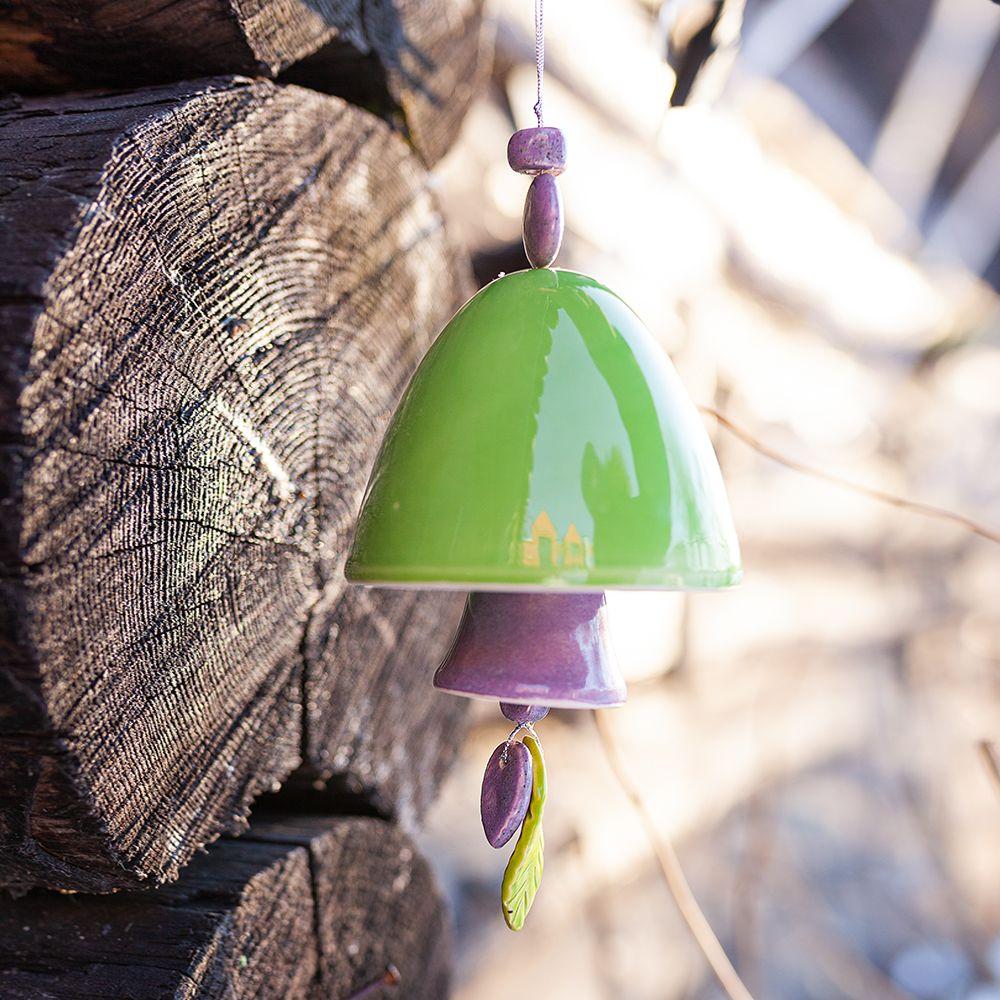 Колокольчик декоративный глазурь большой №4 фото