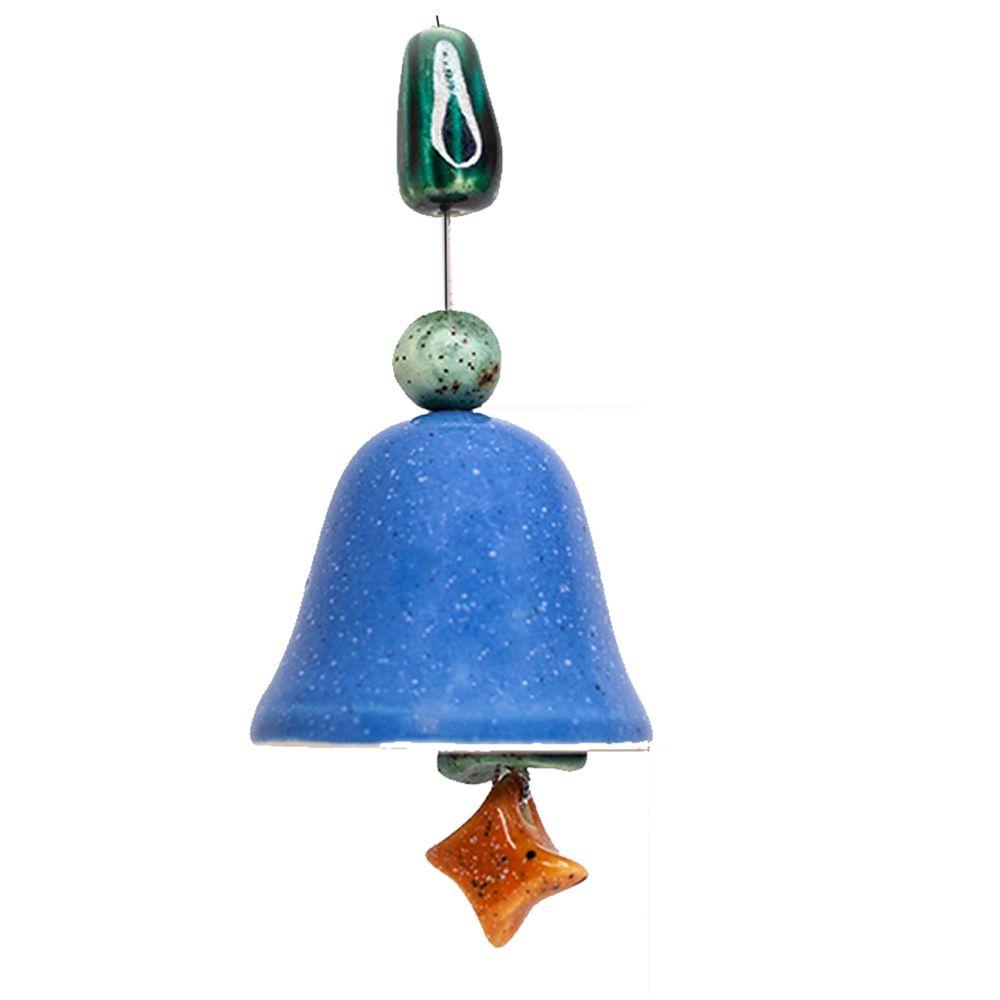 Колокольчик декоративный глазурь малый №4 фото