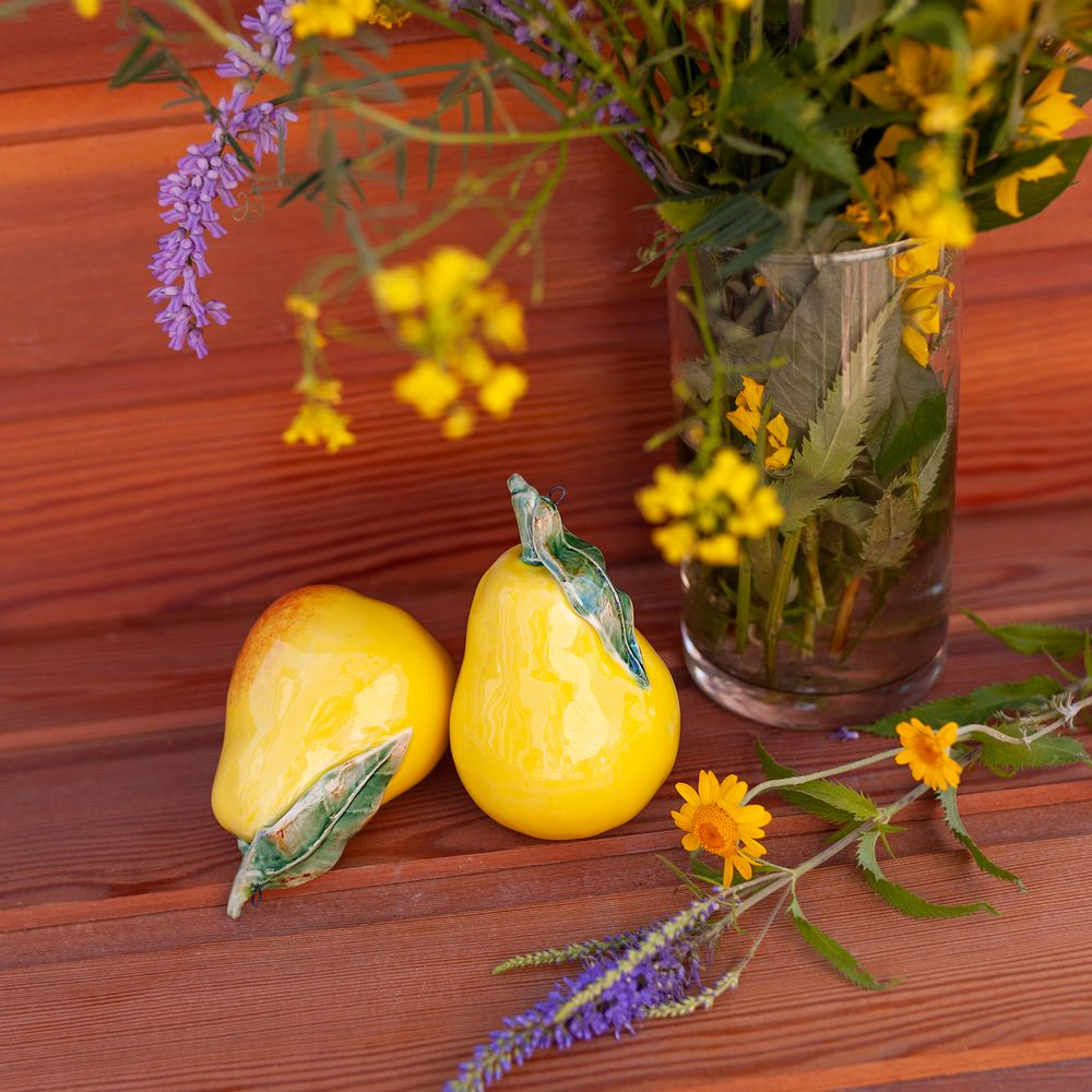 Груша (подвес) жёлтая фото